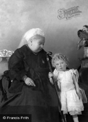 Queen Victoria And Her Great Grandson, Prince Edward c.1896, Royalty