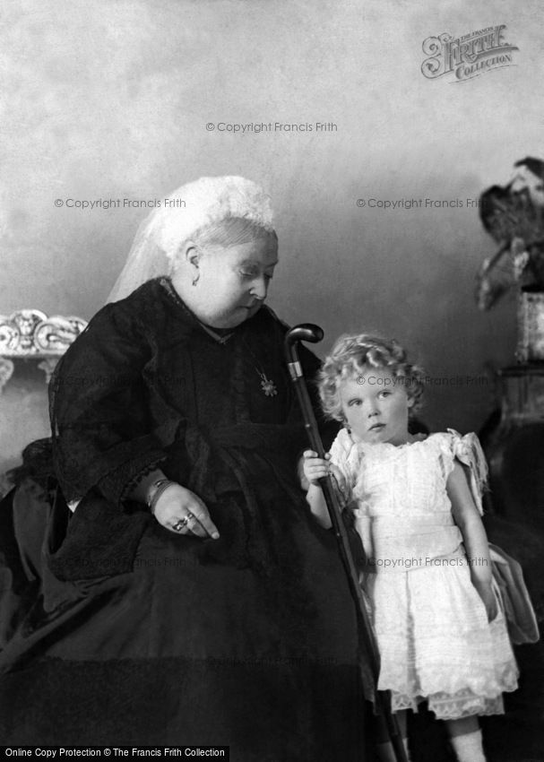 Royalty, Queen Victoria and her Great Grandson, Prince Edward c1896