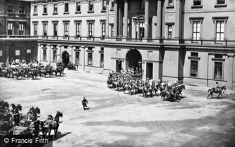 Royalty, Queen Victoria's Diamond Jubilee Procession leaving Buckingham Palace 1897