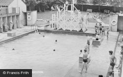 Royston, Swimming Pool c.1955