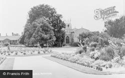 Royston, The Priory Memorial Gardens c.1955