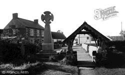 The Lychgate And Post Office c.1960, Ruan Minor