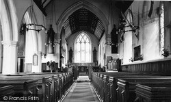 Rudgwick, Holy Trinity Church Interior c.1955