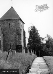Rudgwick, Path To Holy Trinity Church c.1955