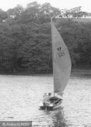 Rudyard, Sailing Dinghy On The Lake c.1955