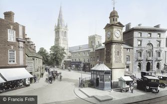 Rugby, Clock Tower and St Andrew's Church 1922