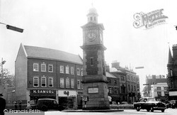 Rugby, The Clock Tower c.1960