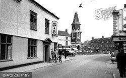 Rugeley, Market Place c.1955