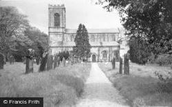 Rugeley, Parish Church c.1955