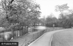 Rugeley, The Park Lake c.1955