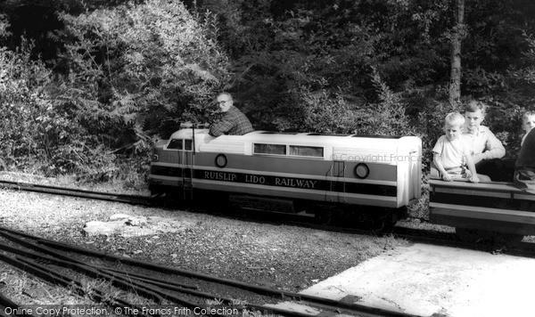 Photo of Ruislip, The Lido, Miniature Railway c.1965