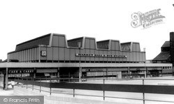 Runcorn, Market Hall & Bus Station c.1965