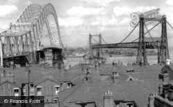 Runcorn, Runcorn Bridge And The Transporter Bridge c.1961