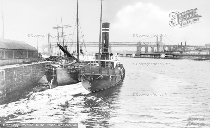 Photo of Runcorn, Ship Canal And Bridges 1929