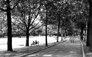 Runcorn, Town Hall Gardens c1955