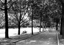 Runcorn, Town Hall Gardens c.1955