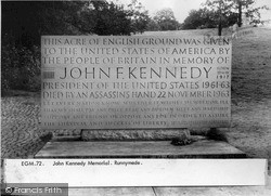 Runnymede, John Kennedy Memorial c.1960