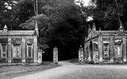 Rushton, Hall, the Lodge Gates c1955