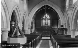 Rusper, St Mary Magdalene's Church Interior 1909