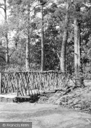 Rusthall, The Rustic Bridge At High Rocks c.1960