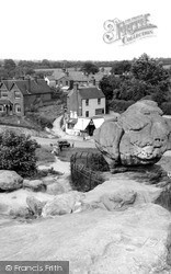 Rusthall, The Toad Rock And Village c.1960
