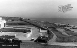 Rustington, General View Of The Beach c.1955