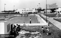 Rustington, Mallon Dene, Swimming Pool And Main Entrance c.1950