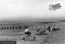 Rustington, The Beach c.1955