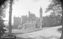 Ruthin, Castle From East 1939