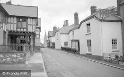 Ruthin, Castle Street From Castle Gateway 1956