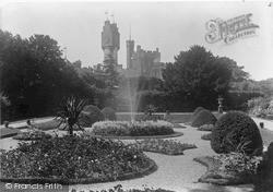 Ruthin, Castle, The Flower Gardens c.1900