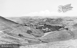 Ruthin, From Bwlch Pen Barras c.1955