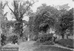 Ruthin, Ruins Of The Old Castle c.1900