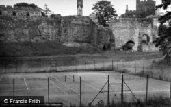 Ruthin, The Castle And Tennis Courts 1952