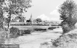 Ruthin, Town From The River Clwyd c.1939