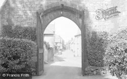 Ruthin, View Through Castle Gates 1939