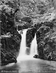 Rydal, The Lower Falls c.1880