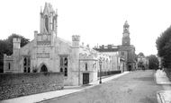 Ryde, St James' Church and Town Hall, Lind Street 1892