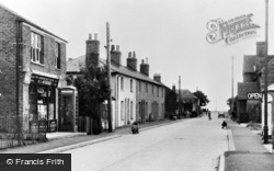 Rye Harbour, The Post Office And Street c.1955