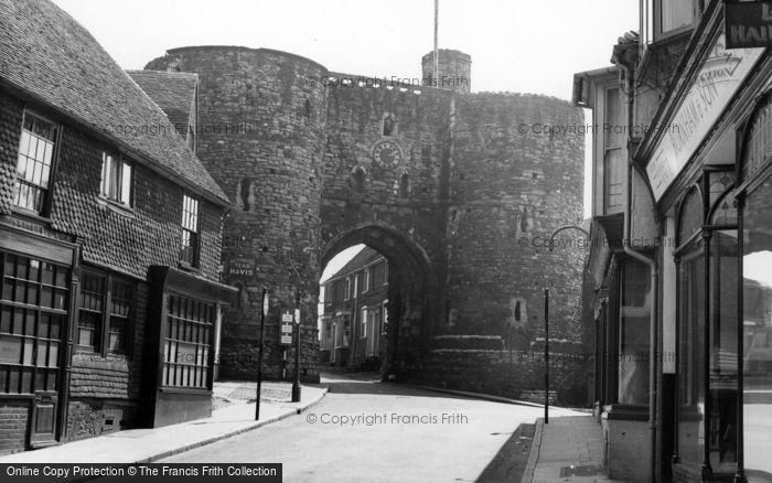 Photo of Rye, The Landgate c.1955