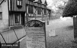 By The Churchyard 1950, Saffron Walden