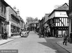 Saffron Walden, Cross Keys Hotel And Post Office c.1955