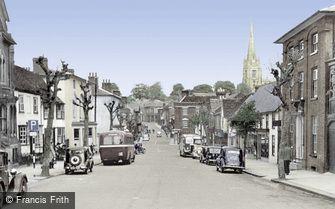 Saffron Walden, High Street c1950