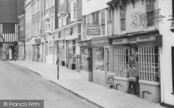 Saffron Walden, King Street Businesses c.1960