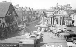 Saffron Walden, Market Square c.1960