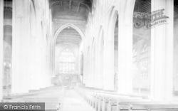 Saffron Walden, Parish Church Interior 1912