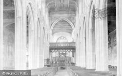Saffron Walden, Parish Church Interior 1932