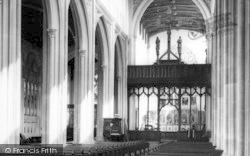 Saffron Walden, Parish Church Interior c.1965