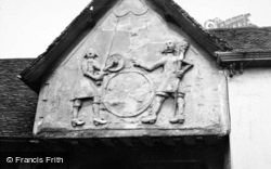 Plaster Work On The Old Sun Inn 1950, Saffron Walden