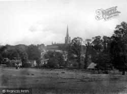 Saffron Walden, St Mary's Church From The Deer Park 1919